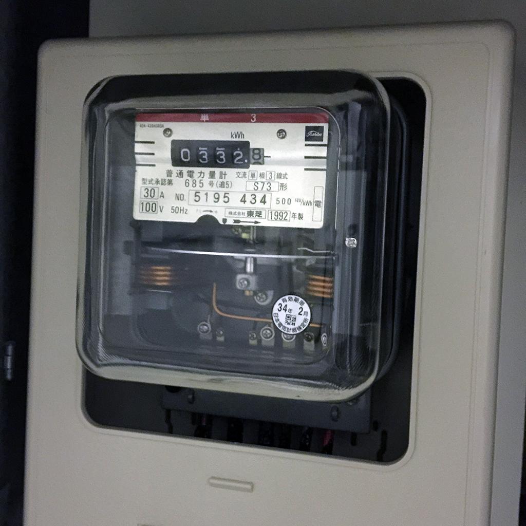 旧電力計(交換前)